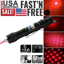 Astronomy 900Miles Red Laser Pointer Pen 650nm Visible Lazer+Star Cap+Belt Clip