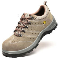 Mens Breathable Steel Toe Cap Safety Work Boots Shoes Hiking Walking Sneakers