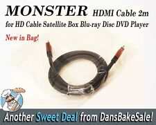 Monster for HDMI Cable 2M  - HD Cable Satellite Box Blu-ray DVD HDTV 1080p NEW!