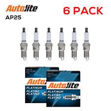 (6 Pack) Autolite AP25 Platinum Core Spark Plugs for Ford Dodge Chevrolet