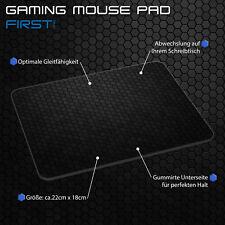 Mauspad Gaming Mousepad rutschfest Maus Pad mit Design, First One Muster schwarz