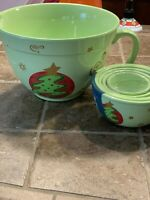 Christmas Culinary Comforts 2 Qt. Batter Mixing Bowl & Portion Prep Bowls Green