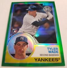 2018 TOPPS SERIES 2 TYLER WADE RC 1983 CHROME GREEN REFRACTOR #2/99 ROOKIE CARD