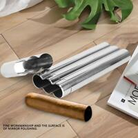 Metal Stainless Steel Cigar Tube Storage Case Tobacco Cigarettes Holder Travel