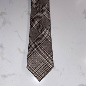 Altea virgin wool plaid (feels like cashmere) necktie