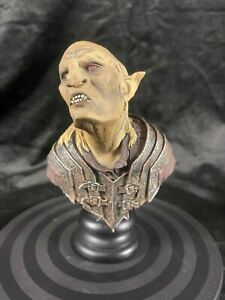 """SIDESHOW WETA LORD OF THE RINGS THE HOBBIT """"ORC OVERSEER"""" BUST STATUE FIGURE"""