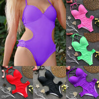 Womens Bathing Suit Swimwear Monokini Swimsuit Bikini Halter Beachwear One Piece