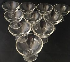 BORGONOVO ITALY 10 Piece Footed Sherbet Dessert Cup Glassware