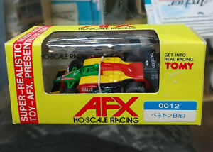 TOMY AFX HO SLOT F1 RACING BENETTON RIELLO FORD #20