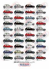 Affiche Peugeot 205 GTi Evolution - 70cm X 50cm