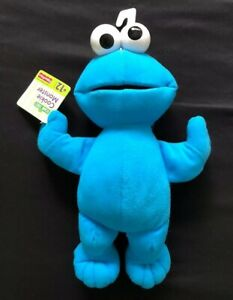 """NWT Fisher Price Sesame Street Cookie Monster 10"""" Plush Toy Blue"""