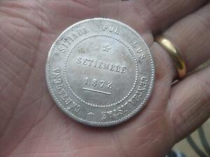 Monnaie ancienne argent massif ESPAGNE CINQO PESETAS SETIEMBRE 1873 RARE!!!