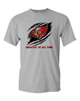 Tom Brady GOAT Custom Shirt Greatest Of All Time Bucs Football Fan Shirt New