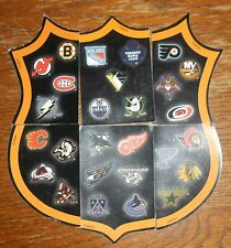 1998 Beer Promo NHL Shield Magnet Crest Set of six Pieces Complete