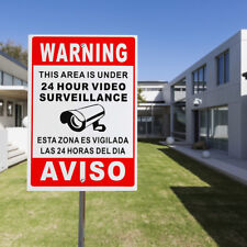 Warning Signs Metal 24 Hour Video Surveillance Security Sign Cctv Camera Sign !