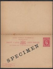 BAHAMAS, 1902. Paid Reply Post Card H&G 8, Specimen