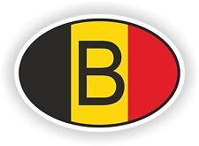 Oval bandera belga con b país etiqueta de código de Bélgica Motocycle Auto Camión