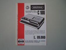 advertising Pubblicità 1966 REGISTRATORE GRUNDIG C 100