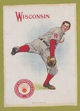 1910 LG Murad tobacco silk S21 UNIVERSITY OF WISCONSIN  Baseball Pitcher  TOUGH