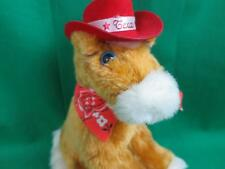 TEXAS BROWN STALLION HORSE PONY MAKES SOUNDS COWBOY RED HAT PLUSH STUFFED TOY