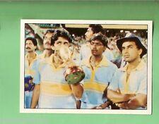 1985 SCANLENS CRICKET STICKER #24  INDIAN TEAM