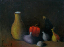 LEED - Vintage Still Life Oil Painting/Panel - Unframed - Signed - Circa 1970's