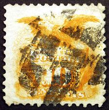 #116 10c Yellow 1869 VF Used w/ Segmented Cancel