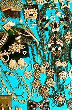 45 Vintage DESIGNER Rhinestone Jewelry Lot Swarovski 925 Daulpaise Monet LizC BB