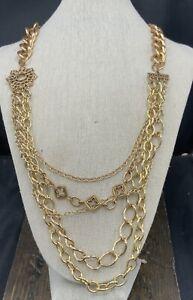 Barse Monte Cristo Multi-Strand Necklace- Bronze- NWT
