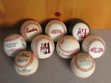 Vintage Group of 9 Harrisburg Senators Minor League Baseballs Signed Rawlings