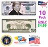 10 PACK DONALD TRUMP 2020 DOLLAR BILL MAGA Funny Money Presidential