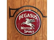 NEW Pegasus Large Round with Hanger tin metal sign