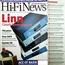 HI-FI NEWS SONY SCD-XA777ES SACD MUSICAL FIDELITY 3.2 TAG MCLAREN 250MR CASTLE