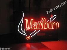 Rare Marlboro Cigarettes And Match Smoke BEER BAR REAL NEON LIGHT SIGN Free Ship
