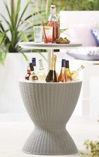 NEW Rattan Ice Bucket Activity Bar Cooler Table Beer Grey Outdoor🌞 - FREE P&P🚚