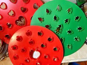 PIE CRUST piecrust TOP CUTTERS Christmas Tree Valentine Heart Apple