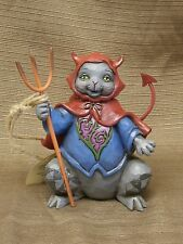 Jim Shore Frightful Feline Halloween Cat pint size 4034437