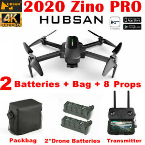 Hubsan Zino PRO 5KM 4K FPV Quadcopter APP Drone W/3 Gimbal Camera +2Battery+Bag