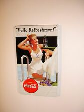 "Coca Cola Embossed Magnet - ""Hello Refreshment"" by Andre Rooney"