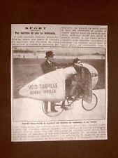 La custodia per la bicicletta da corsa del ciclista Bunau-Varilla nel 1914