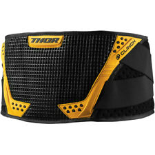 NEW 2019 THOR MX CLINCH BLACK YELLOW KIDNEY BELT PROTECTION ADULT MENS MOTO