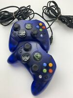Xbox Controller S Blue Transparent OEM Microsoft Video Game Pair (Lot of 2)
