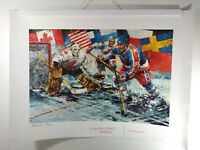 VTG 80's CANADA CUP Poster (US vs CANADA) Uncirculated Sample *Super Rare* 22x30