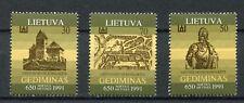 s11916) LIETUVA LITHUANIA MNH** 1991, Gediminas 3v