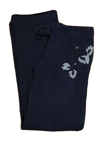 Vintage LUCKY BRAND Navy Embroidered Sweatpants Lounge Pants Size Small