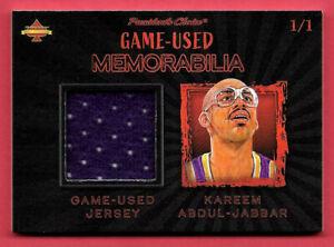 2020 Kareem Abdul-Jabbar President's Choice Solitaire 1/1 Jersey Relic - Lakers
