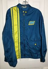 Vintage 60s NORTON Racing Team Nylon Jacket Patch/Stripes Cafe Racer MOTO Sz S