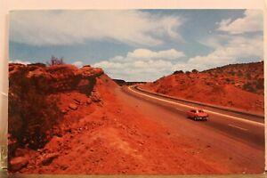 New Mexico NM Albuquerque Santa Fe La Bojada Hill Red Rocks Postcard Old Vintage