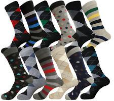 12 PAIRS FISRT QUALITY PATTERN FASHION SOCKS 10-13 COTTON MENS DRESS SOCKS SET88
