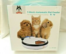 TD Design 5 Meals Automatic Pet Feeder Cats & Small and Med Size Dogs PF-105